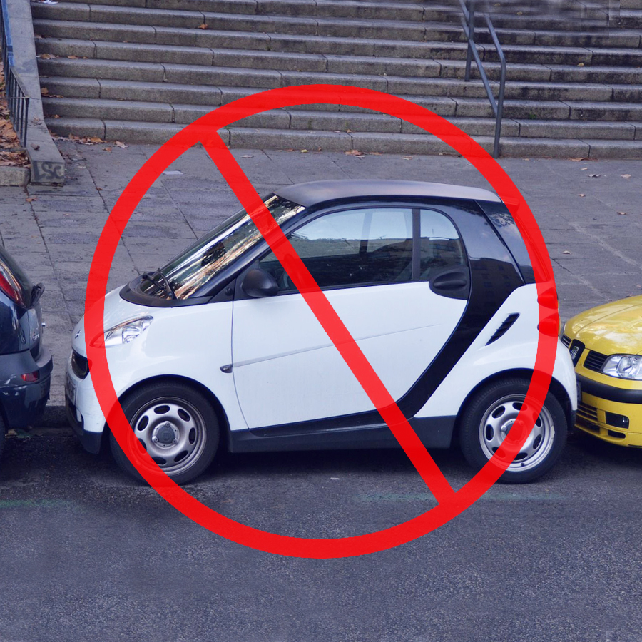 Jak nie parkować . Prawo jazdy Sieradz